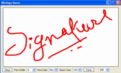 Capture Signature With Lots Of Options